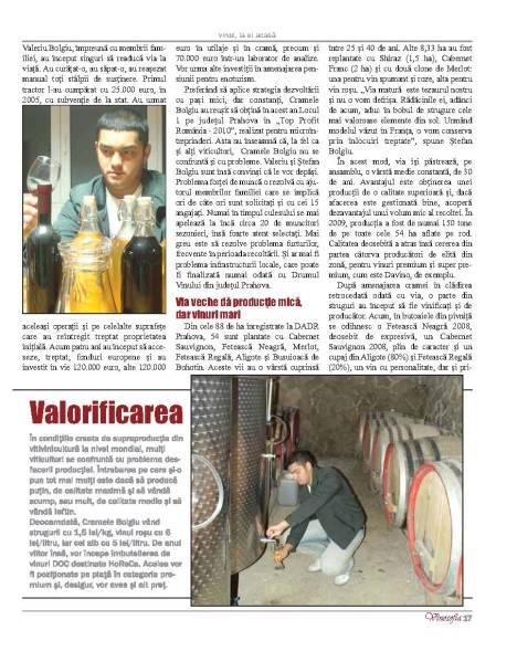 La Cramele Bolgiu, viile sunt tratate cu elixirul tinereţii fără bătrâneţe (II)